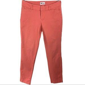 "Old Navy ""Pixie"" Coral Pink Capri Pants - Size 6 R"